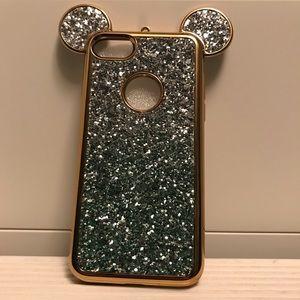 Seafoam Glitter iPhone 7/8 Mickey Phone Case